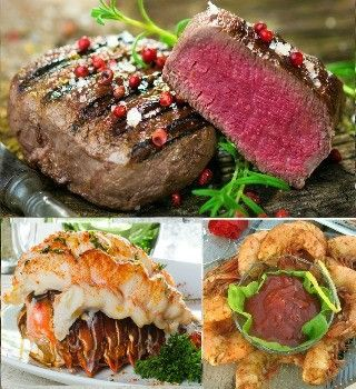 Surf and Turf Beef, Lobster and Shrimp