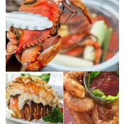 Surf and More Surf with Crab, Lobster and Shrimp
