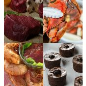 Surf-and-turf Beef,crabs,shrimp and brownies