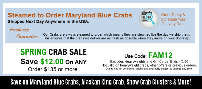 spring Crab Sale - Freshness Guarantee